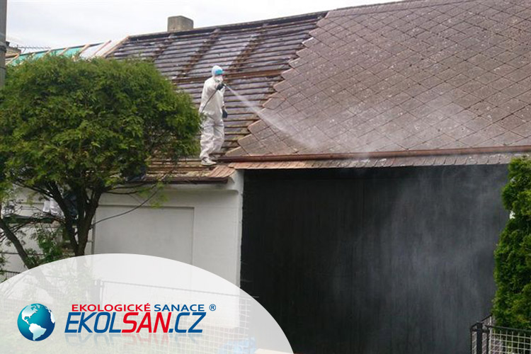 Profesionální likvidace azbestové eternitové střechy od firmy EKOLSAN